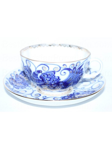 Cup and Saucer pic. Bird Queen, Form Tulip