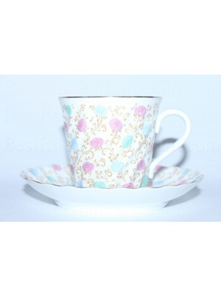 Cup and saucer pic. Chrysanthemums, Form Twisted