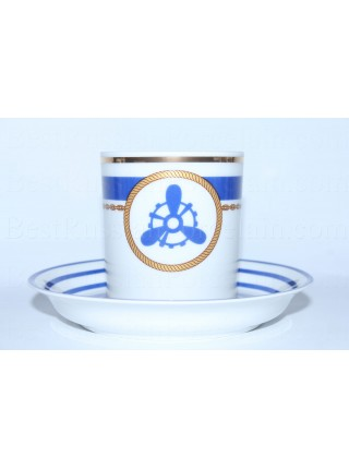 Cup and saucer pic. Wardroom 4, Marine Mechanic, Form Heraldic