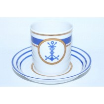 Cup and saucer pic. Wardroom 3, Marine Radio Operator, Form Heraldic