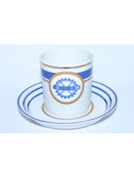 Cup and saucer pic. Wardroom 2, Marine Torpedoman, Form Heraldic