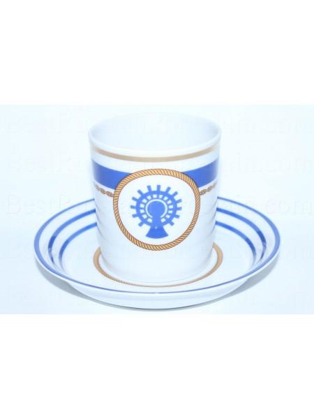 Cup and saucer pic. Wardroom 5, Marine Skipper, Navigator, Form Heraldic