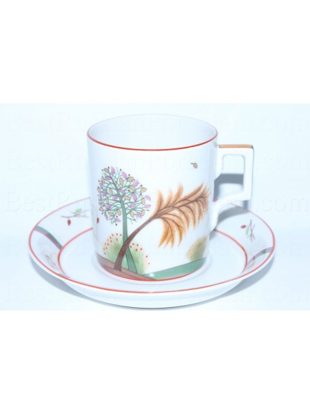 Cup and Saucer pic. Autumn, Form Heraldic
