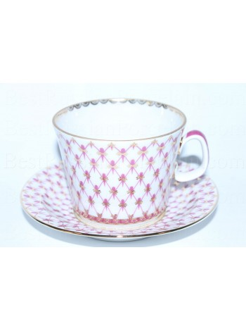 Cup and saucer pic. Net Blues, Form Youth   BestRussianPorcelain.com
